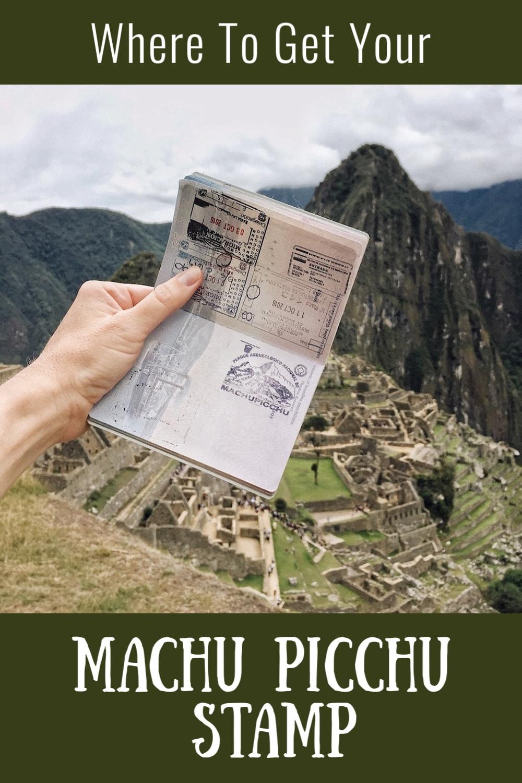 machu picchu stamp